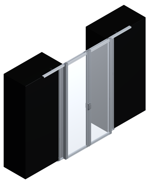 double sliding rigid door